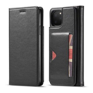Wallet Flip Leather 5 Card Slots Photo Frame Case For iPhone X XR XS Max 11 Pro Max