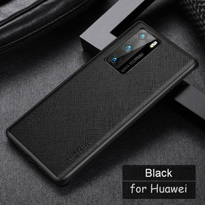 Luxury Vintage Leather skin Anti-knock Case for Huawei Smartphone
