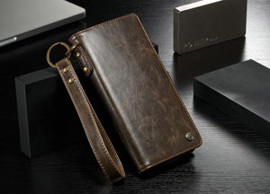 Leather Retro Flip Cover With Card Pocket For Samsung Note 10 Plus
