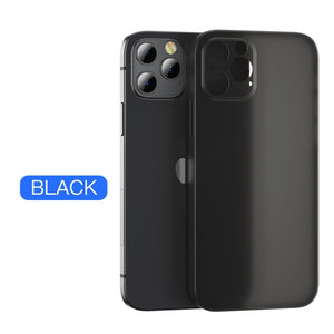 Ultra Thin Lens Full Cover Shockproof Matte Case For iPhone 12 11 Pro Max
