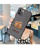 Luxury 3D Embroidery Fashion Soft Silicone Case For iPhone 11 Series