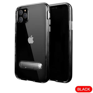 Shockproof Clear Transparent TPU Flexible Slim Kickstand Case for iPhone 11 Series
