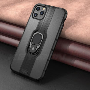 Shockproof Magnetic Ring Holder Phone Case For iPhone 11 Series