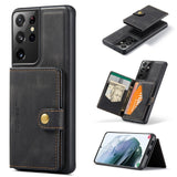 2 In 1 Magnetic Wallet Luxury Leather Phone Case for Samsung Galaxy S21 S20 Note 20 Series