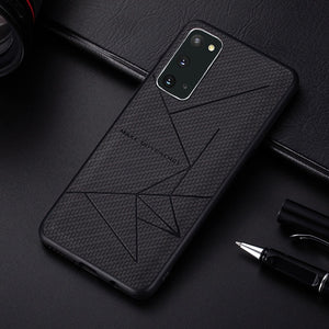 Bracket Leather Silicone Case For Samsung Galaxy S20 Note 10 Series
