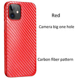 Frosted Ultra Thin Plastic Protective Carbon Fiber Case For iPhone 12 Series