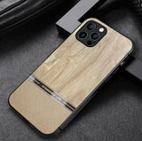 New Elegant Real Wooden Effect TPU Hard Cover Phone Case for Apple iPhone 12 11 Pro MAX