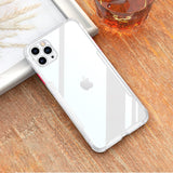 Luxury Shockproof Clear Silicone Cover Camera Protection Case For iPhone 11 Series