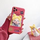 High Quality Cute Sailor Moon Soft Silicon Phone Case with Kickstand for iPhone 11 Series