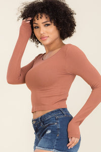 Amber Crop Long Sleeves