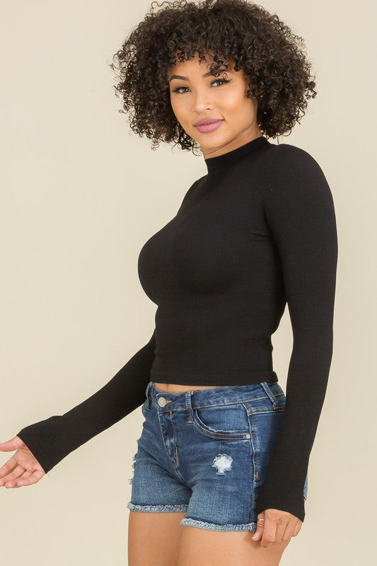 Laurel High Neck Crop Top