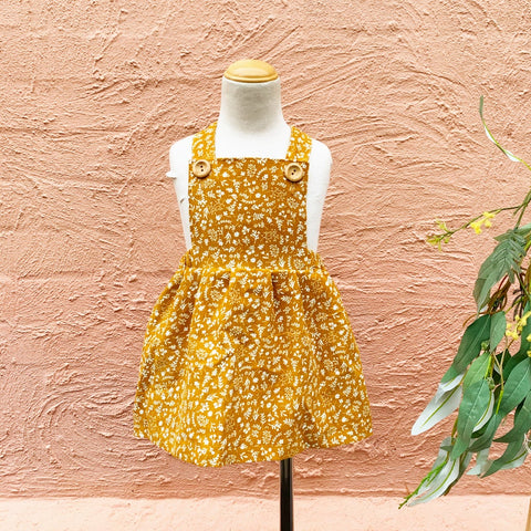 Floral corduroy PINNY DRESS