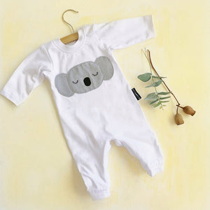 KOALA winter onesie white
