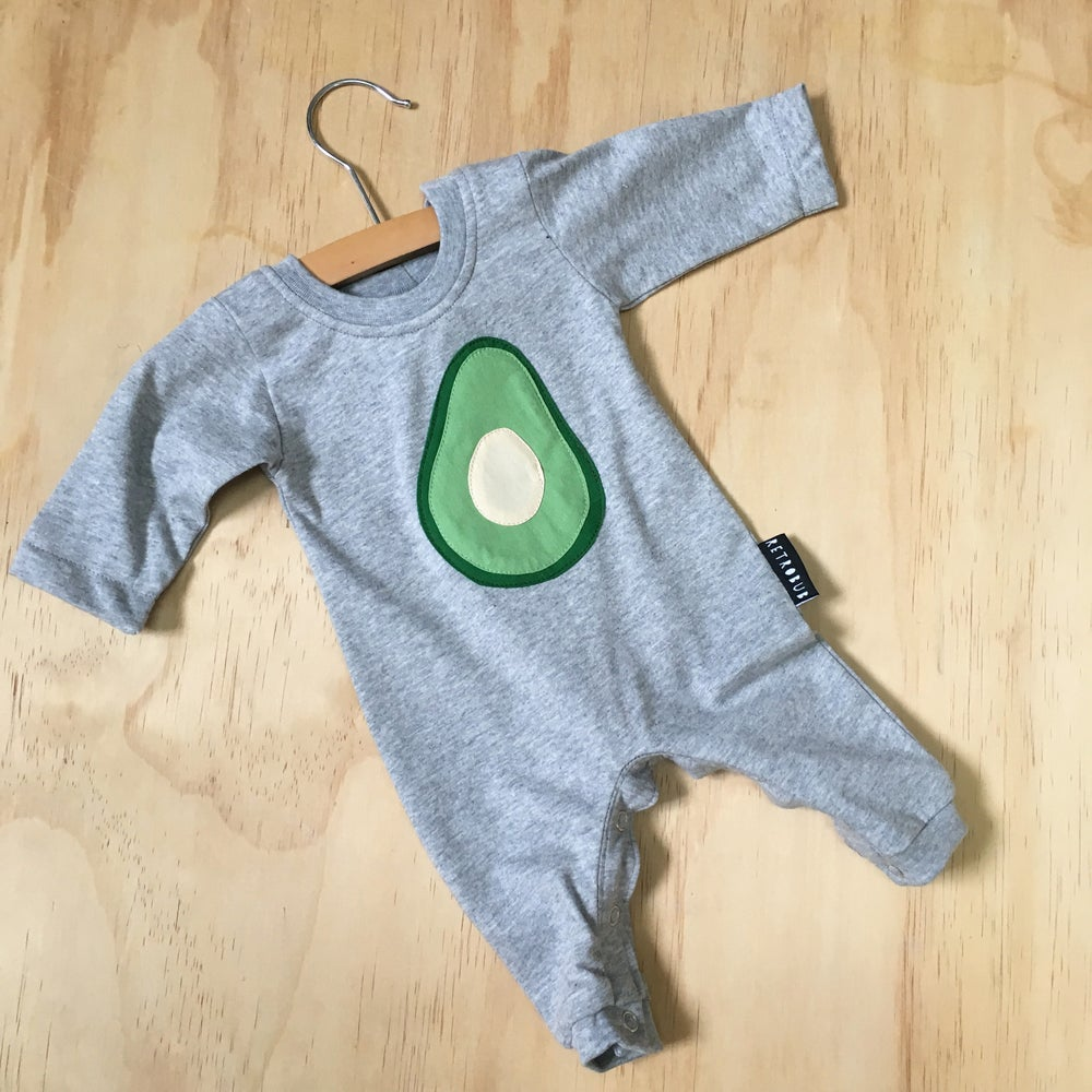 Avocado winter onesie - grey marle