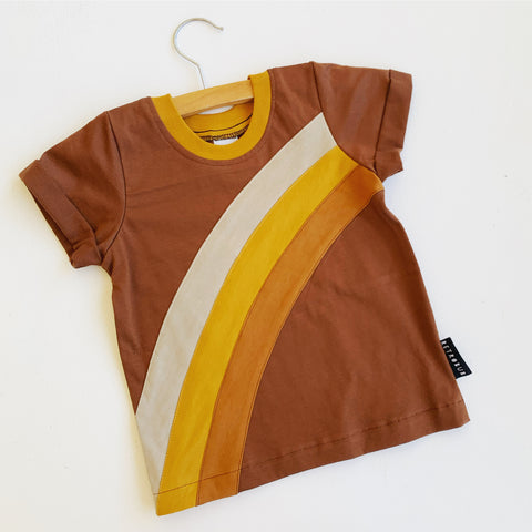 CARAMEL RAINBOW tshirt chocolate sizes 1-5