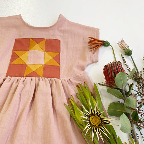 Oregon dress in blush