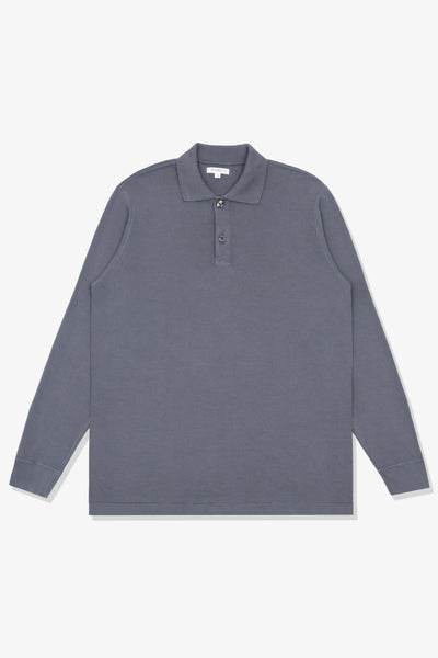 LW L/S Two Button Polo