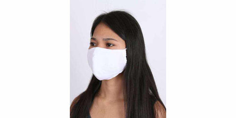 5-Pack White Cotton Face Mask - Adults Reusable Face Mask with Filter Pocket-Face Mask-Lannaclothesdesign Shop