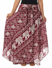 BOHEMIAN ELEPHANT SKIRT-Rayon Skirt-Lannaclothesdesign Shop-Lannaclothesdesign Shop