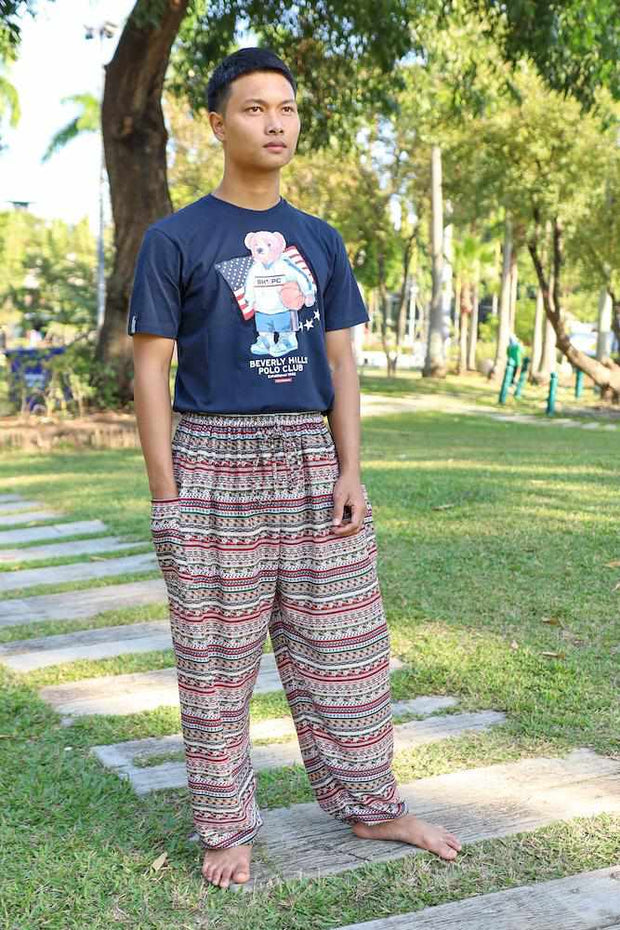 MEN BOHO RAYON PANTS-Men Pants-Lannaclothesdesign Shop-Lannaclothesdesign Shop