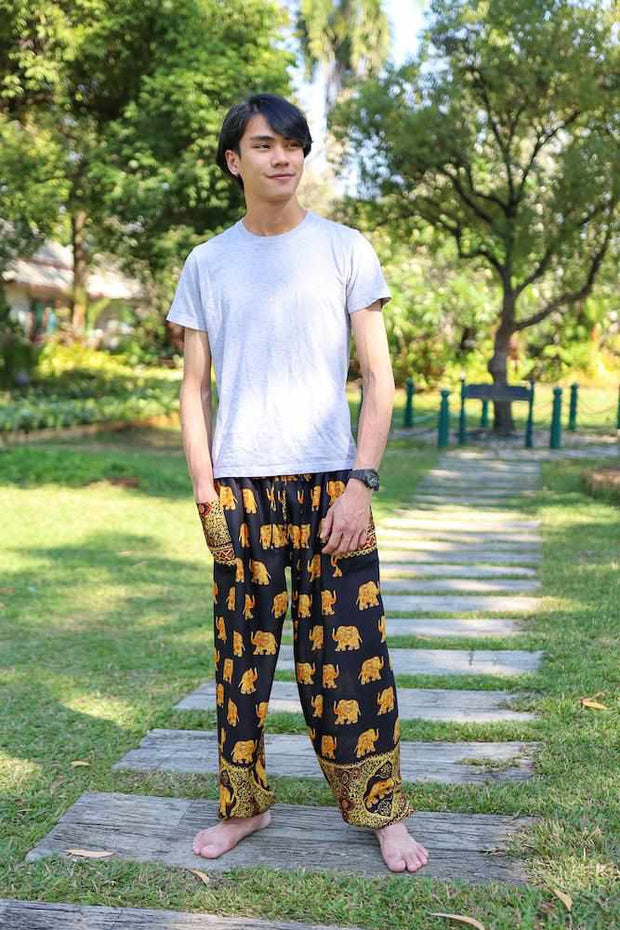 MENS LOUNGE BOHO PANTS-Men Pants-Lannaclothesdesign Shop-Lannaclothesdesign Shop