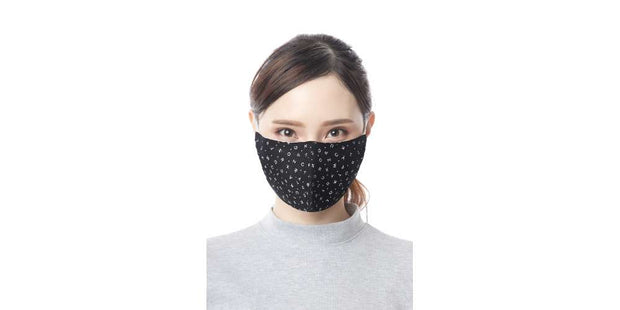 Adults ABC Pattern Black Mouth Mask Cotton Face Cover with Filter Pocket-Face Mask-Lannaclothesdesign Shop