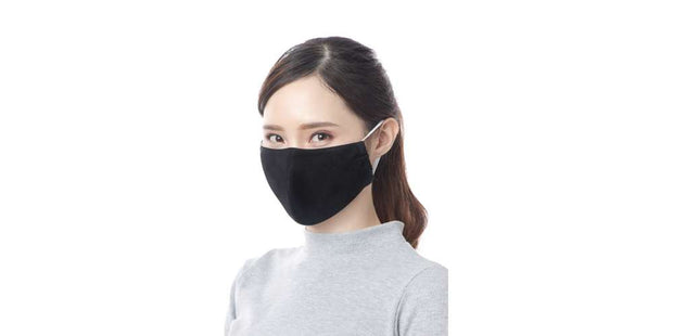 Adults Black Reusable Mouth Mask Cotton Face Cover with Filter Pocket-Face Mask-Lannaclothesdesign Shop