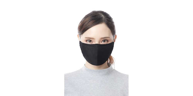 Adults Black Reusable Mouth Mask Cotton Face Cover with Filter Pocket-Face Mask-Lannaclothesdesign Shop-Lannaclothesdesign Shop