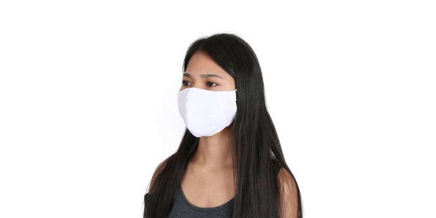 Adults White Reusable Face Mask Cotton Mouth Cover with Filter Pocket-Face Mask-Lannaclothesdesign Shop-Lannaclothesdesign Shop