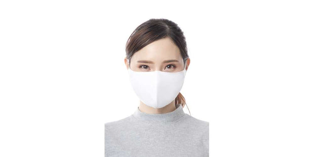 Adults White Reusable Face Mask Cotton Mouth Cover with Filter Pocket-Face Mask-Lannaclothesdesign Shop