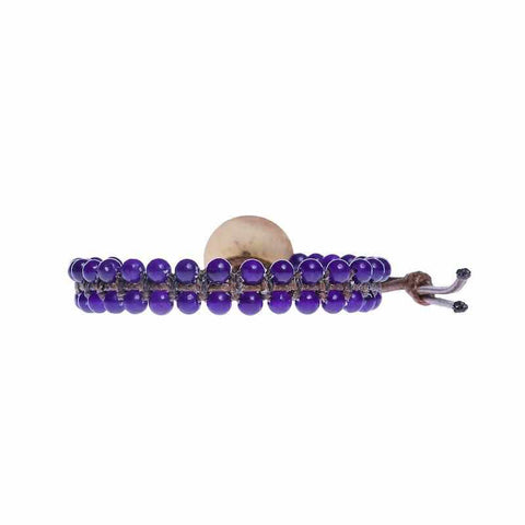 Amethyst Boho Bracelet-Bracelet-Lannaclothesdesign Shop-Lannaclothesdesign Shop