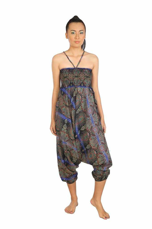 Baggy Harem Pants-Harem Jumpsuit-Lannaclothesdesign Shop-Blue-Small-Medium-Lannaclothesdesign Shop