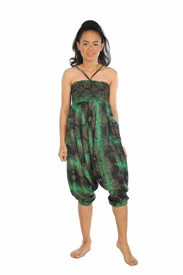 Baggy Harem Pants-Harem Jumpsuit-Lannaclothesdesign Shop-Green-Small-Medium-Lannaclothesdesign Shop