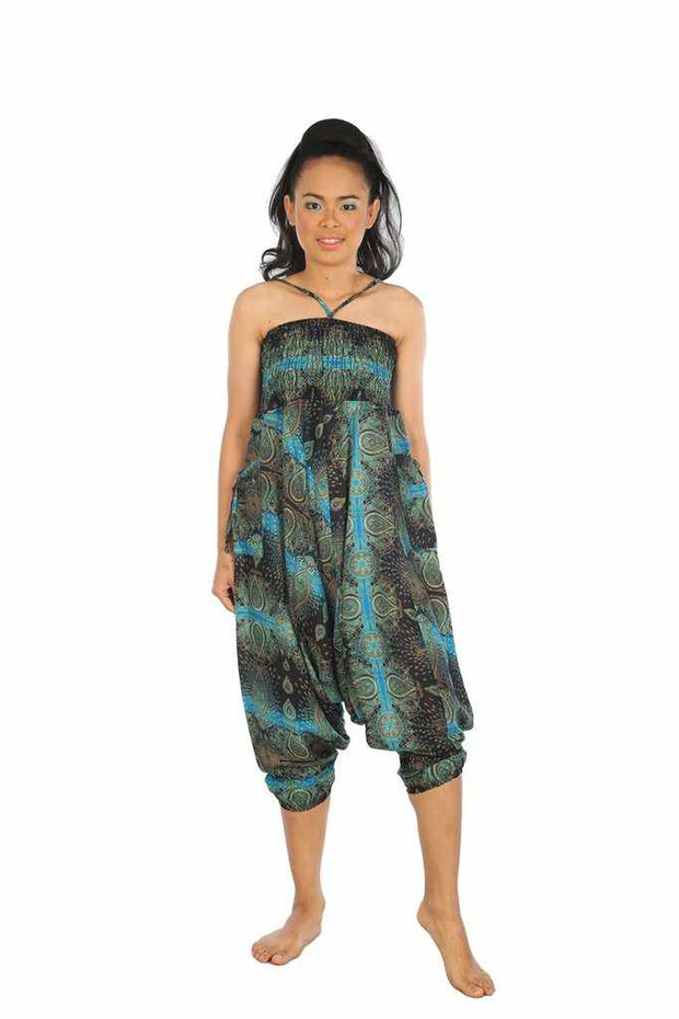 Baggy Harem Pants-Harem Jumpsuit-Lannaclothesdesign Shop-Light Blue-Small-Medium-Lannaclothesdesign Shop