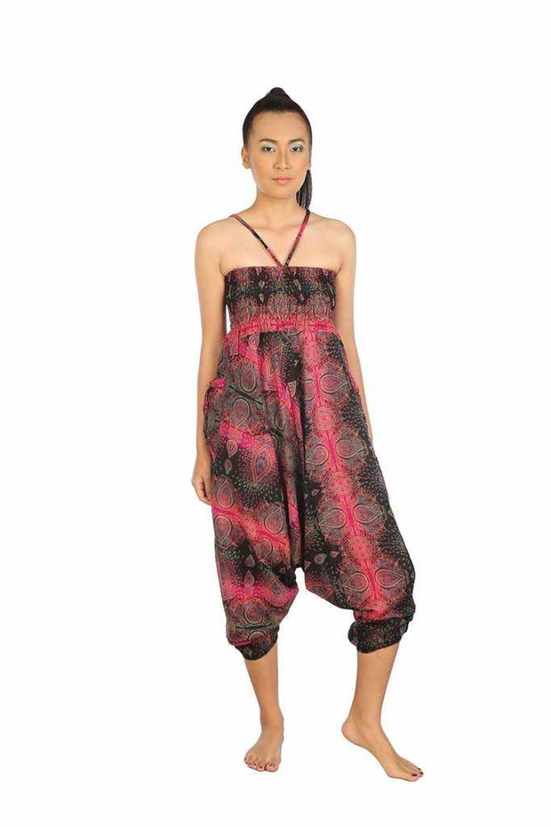 Baggy Harem Pants-Harem Jumpsuit-Lannaclothesdesign Shop-Pink-Small-Medium-Lannaclothesdesign Shop