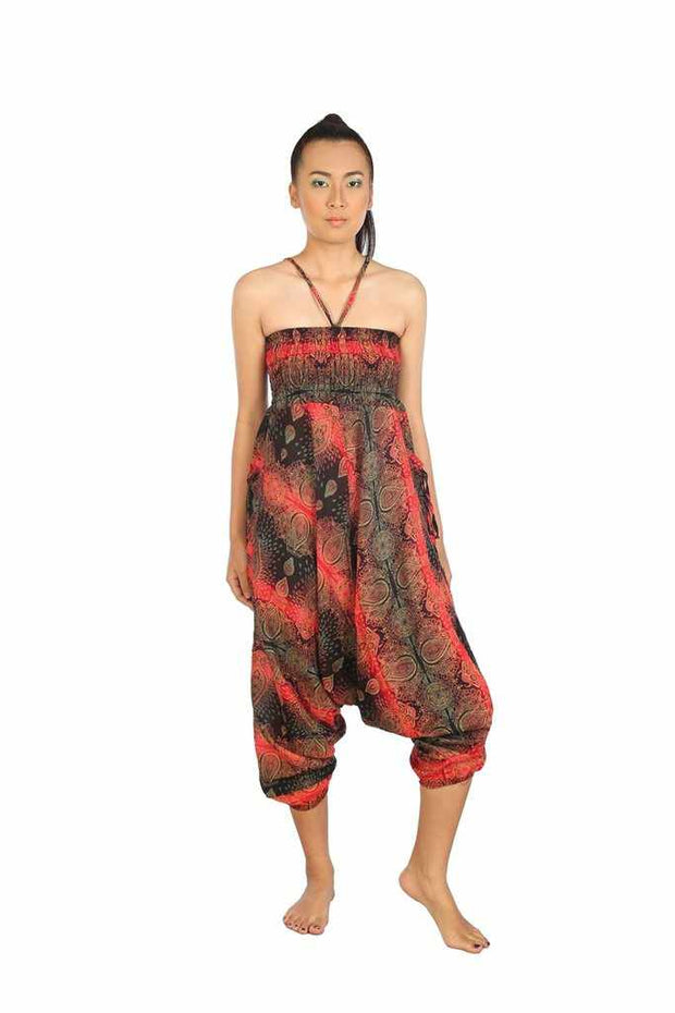 Baggy Harem Pants-Harem Jumpsuit-Lannaclothesdesign Shop-Red-Small-Medium-Lannaclothesdesign Shop