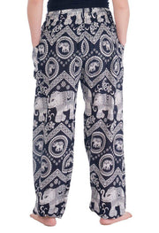 Black Elephant Harem Pants-Smocked-Lannaclothesdesign Shop-Lannaclothesdesign Shop