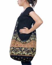Boho Sling Purse Black-Bags-Lannaclothesdesign Shop-Lannaclothesdesign Shop