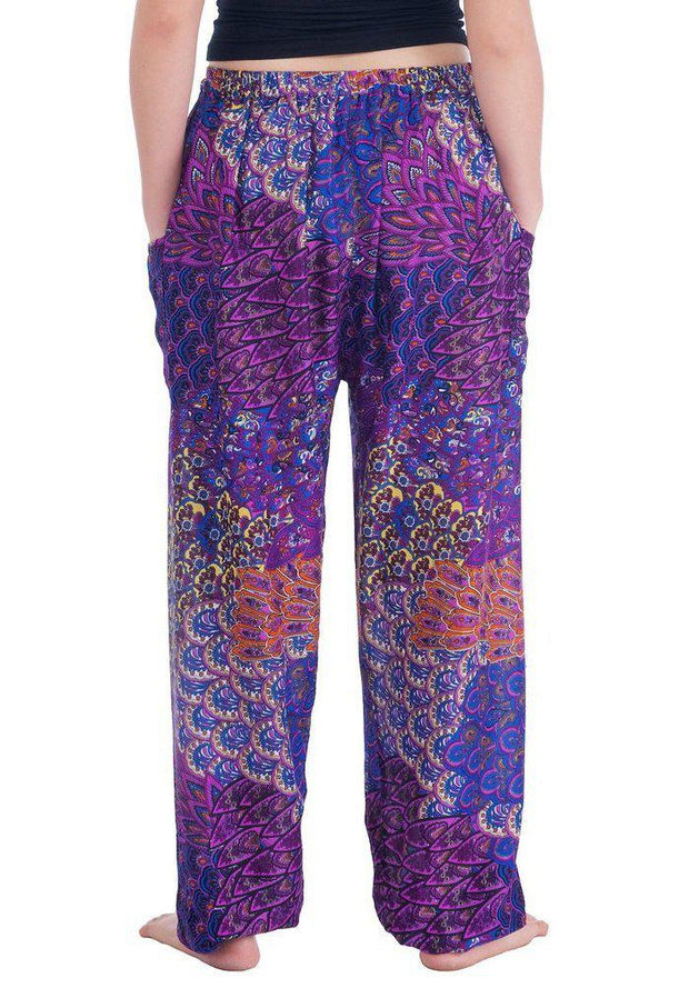 Colorful Harem Pants with Drawstring-Drawstring-Lannaclothesdesign Shop-Lannaclothesdesign Shop