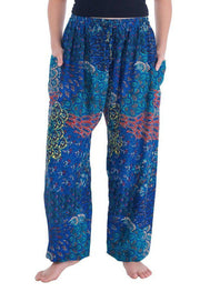 Colorful Harem Pants with Drawstring-Drawstring-Lannaclothesdesign Shop-Small-Dark Blue-Lannaclothesdesign Shop