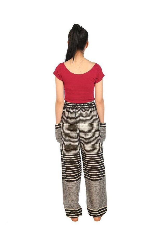 Drawstring Pants Striped Print-Drawstring-Lannaclothesdesign Shop-Lannaclothesdesign Shop