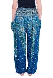 Drawstring Peacock Harem Pants-Drawstring-Lannaclothesdesign Shop-Lannaclothesdesign Shop