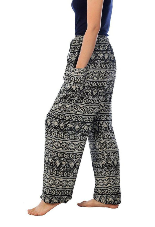 Elephant Harem Pants-Drawstring-Lannaclothesdesign Shop-Lannaclothesdesign Shop