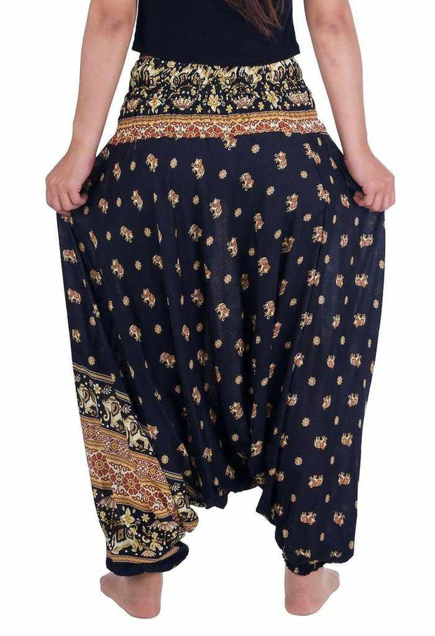 Elephant Harem Pants-Harem Jumpsuit-Lannaclothesdesign Shop-Lannaclothesdesign Shop