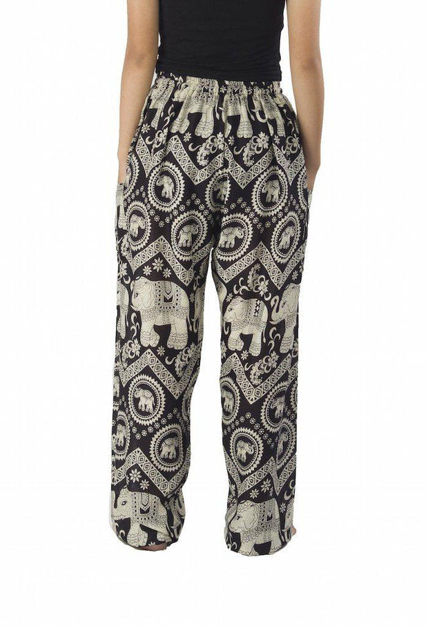 Elephant Harem Pants with Drawstring-Drawstring-Lannaclothesdesign Shop