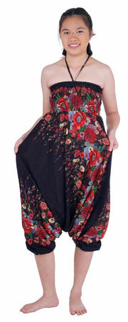 Floral Harem Pants-Harem Jumpsuit-Lannaclothesdesign Shop-Lannaclothesdesign Shop