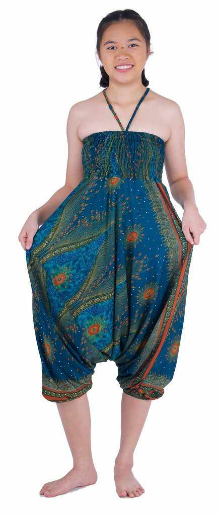 Flower Eye Harem Pants-Harem Jumpsuit-Lannaclothesdesign Shop-Lannaclothesdesign Shop