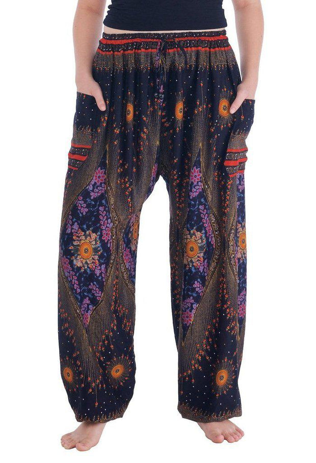 Flowy Drawstring Pants-Drawstring-Lannaclothesdesign Shop-Small-Black-Lannaclothesdesign Shop