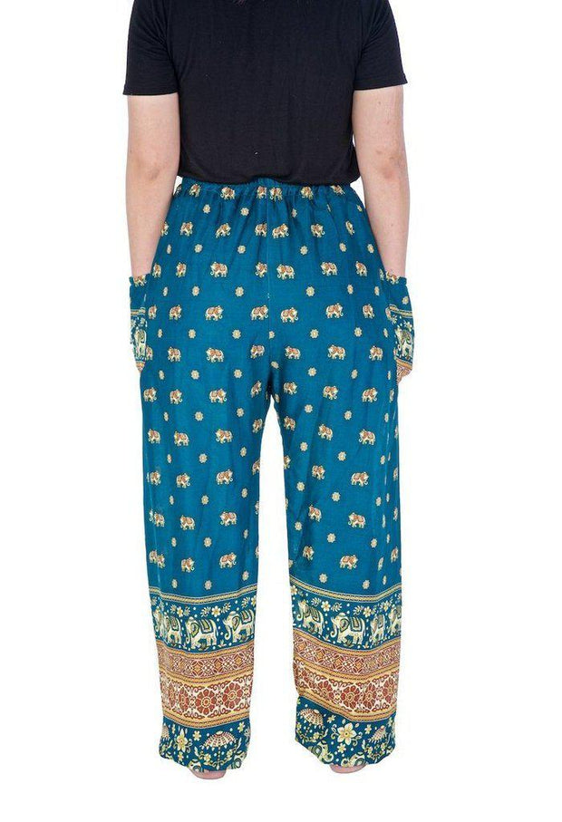 Flowy Elephant Drawstring Pants-Drawstring-Lannaclothesdesign Shop-Lannaclothesdesign Shop
