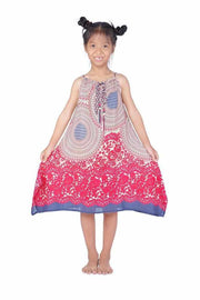 Girls Dress with Adjustable String-Girls Dress-Lannaclothesdesign Shop-Pink-Lannaclothesdesign Shop